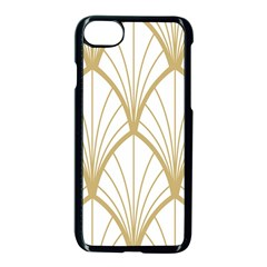 Art Deco, Beautiful,fan Pattern, Gold,white,vintage,1920 Era, Elegant,chic,vintage Apple Iphone 7 Seamless Case (black) by 8fugoso