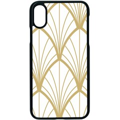 Art Deco, Beautiful,fan Pattern, Gold,white,vintage,1920 Era, Elegant,chic,vintage Apple Iphone X Seamless Case (black)
