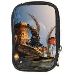 Wonderful Seascape With Mushroom House Compact Camera Cases by FantasyWorld7
