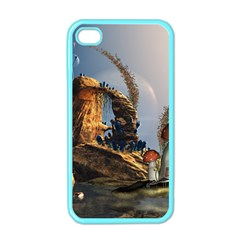 Wonderful Seascape With Mushroom House Apple Iphone 4 Case (color) by FantasyWorld7