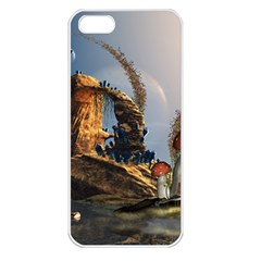 Wonderful Seascape With Mushroom House Apple Iphone 5 Seamless Case (white) by FantasyWorld7