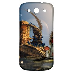 Wonderful Seascape With Mushroom House Samsung Galaxy S3 S Iii Classic Hardshell Back Case by FantasyWorld7
