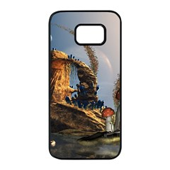 Wonderful Seascape With Mushroom House Samsung Galaxy S7 Edge Black Seamless Case by FantasyWorld7