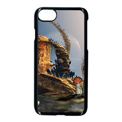Wonderful Seascape With Mushroom House Apple Iphone 8 Seamless Case (black) by FantasyWorld7