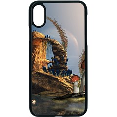 Wonderful Seascape With Mushroom House Apple Iphone X Seamless Case (black) by FantasyWorld7