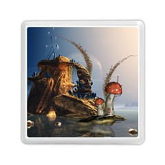 Wonderful Seascape With Mushroom House Memory Card Reader (square)  by FantasyWorld7