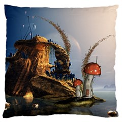 Wonderful Seascape With Mushroom House Standard Flano Cushion Case (one Side) by FantasyWorld7