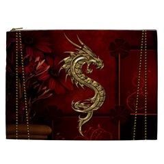 Wonderful Mystical Dragon, Vintage Cosmetic Bag (xxl)  by FantasyWorld7
