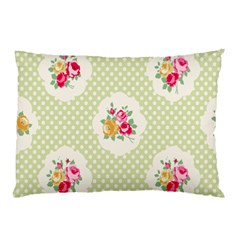 Green Shabby Chic Pillow Case by 8fugoso