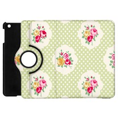 Green Shabby Chic Apple Ipad Mini Flip 360 Case by 8fugoso