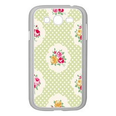 Green Shabby Chic Samsung Galaxy Grand Duos I9082 Case (white) by 8fugoso