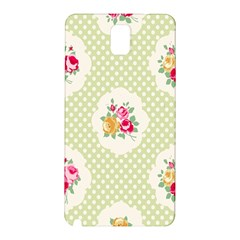 Green Shabby Chic Samsung Galaxy Note 3 N9005 Hardshell Back Case by 8fugoso