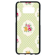 Green Shabby Chic Samsung Galaxy S8 Black Seamless Case by 8fugoso