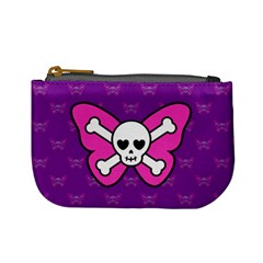 Cute Butterfly Skull Coin Change Purse by Ellador