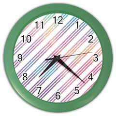 Colored Candy Striped Color Wall Clocks