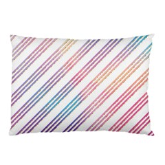 Colored Candy Striped Pillow Case by Colorfulart23