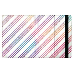 Colored Candy Striped Apple Ipad 2 Flip Case by Colorfulart23