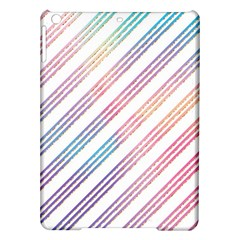 Colored Candy Striped Ipad Air Hardshell Cases by Colorfulart23