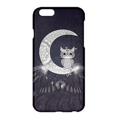 Mandala, Cute Owl On The Moon Apple Iphone 6 Plus/6s Plus Hardshell Case by FantasyWorld7