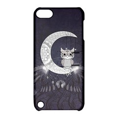 Mandala, Cute Owl On The Moon Apple Ipod Touch 5 Hardshell Case With Stand by FantasyWorld7