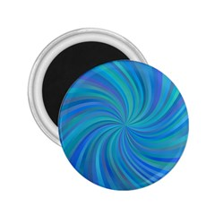 Blue Background Spiral Swirl 2 25  Magnets by Celenk