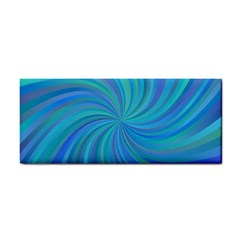 Blue Background Spiral Swirl Cosmetic Storage Cases by Celenk