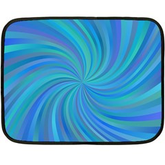 Blue Background Spiral Swirl Double Sided Fleece Blanket (mini)  by Celenk