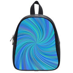 Blue Background Spiral Swirl School Bag (small) by Celenk