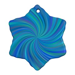 Blue Background Spiral Swirl Ornament (snowflake)