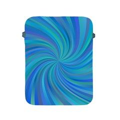 Blue Background Spiral Swirl Apple Ipad 2/3/4 Protective Soft Cases by Celenk