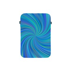 Blue Background Spiral Swirl Apple Ipad Mini Protective Soft Cases by Celenk