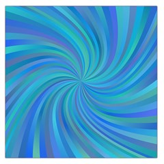 Blue Background Spiral Swirl Large Satin Scarf (square) by Celenk
