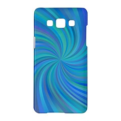 Blue Background Spiral Swirl Samsung Galaxy A5 Hardshell Case  by Celenk