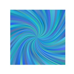 Blue Background Spiral Swirl Small Satin Scarf (square) by Celenk