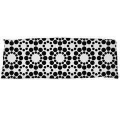 Black White Pattern Seamless Monochrome Body Pillow Case (dakimakura) by Celenk
