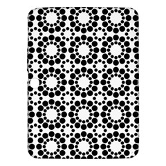 Black White Pattern Seamless Monochrome Samsung Galaxy Tab 3 (10 1 ) P5200 Hardshell Case  by Celenk