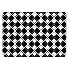 Black White Square Diagonal Pattern Seamless Samsung Galaxy Tab 8 9  P7300 Flip Case by Celenk