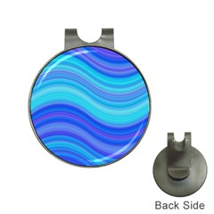 Blue Background Water Design Wave Hat Clips With Golf Markers