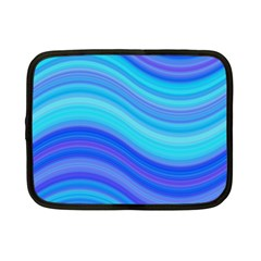 Blue Background Water Design Wave Netbook Case (small)  by Celenk