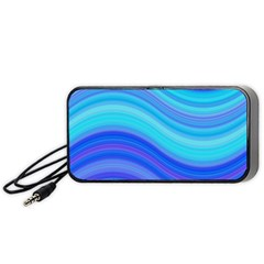 Blue Background Water Design Wave Portable Speaker
