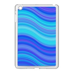 Blue Background Water Design Wave Apple Ipad Mini Case (white)