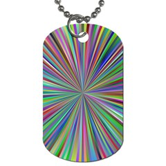 Burst Colors Ray Speed Vortex Dog Tag (one Side)