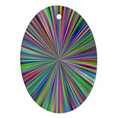 Burst Colors Ray Speed Vortex Oval Ornament (two Sides) by Celenk