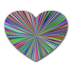 Burst Colors Ray Speed Vortex Heart Mousepads