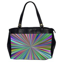 Burst Colors Ray Speed Vortex Office Handbags (2 Sides)  by Celenk