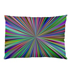 Burst Colors Ray Speed Vortex Pillow Case (two Sides)