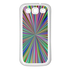 Burst Colors Ray Speed Vortex Samsung Galaxy S3 Back Case (white) by Celenk