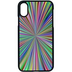 Burst Colors Ray Speed Vortex Apple Iphone X Seamless Case (black)