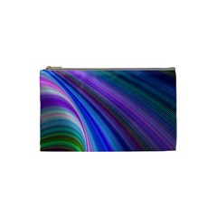 Background Abstract Curves Cosmetic Bag (small)  by Celenk