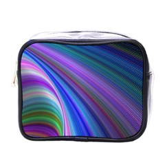 Background Abstract Curves Mini Toiletries Bags by Celenk